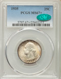 Washington Quarters, 1935 25C MS67+ PCGS. CAC....