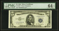 Fr. 1655* $5 1953 Silver Certificate Star. PMG Choice Uncirculated 64 EPQ