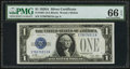 Small Size:Silver Certificates, Fr. 1601 $1 1928A Silver Certificate. PMG Gem Uncirculated 66 EPQ.. ...