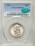 Washington Quarters, 1932 25C MS66+ PCGS. CAC. PCGS Population (240/5 and 29/0+). NGCCensus: (104/4 and 0/0+). Mintage: 5,404,000. Numismedia W...