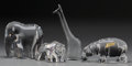 Art Glass:Other , Four Baccarat Clear Glass Animals: Giraffe, Hippo, Elephant,Bear, Baccarat, France, 20th century. Marks: BACCARAT...(Total: 4 Items)