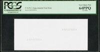 COPE Experimental Test Note circa 1970s PCGS Very Choice New 64PPQ