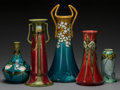 Ceramics & Porcelain, British:Modern  (1900 1949)  , A Group of Five Minton Porcelain Vases, Stoke-on-Trent,Staffordshire, England, circa 1915. Marks to all: MINTON, LTD.No.... (Total: 5 Items)