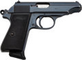 Handguns:Semiautomatic Pistol, Walther Model PP Semi-Automatic Pistol with Leather Holster....