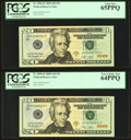 """Small Size:Federal Reserve Notes, """"603-903"""" Low Three-Digit JD-C Fr. 2096-D $20 2009 Federal Reserve Notes PCGS Graded.. ... (Total: 4 notes)"""
