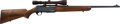 Long Guns:Bolt Action, Belgian Browning Bar High Power Semi-Automatic Rifle With Leupold 3x 9 Vari-X II Scope....