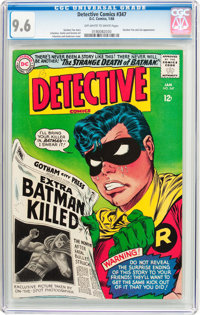 Detective Comics #347 (DC, 1966) CGC NM+ 9.6 Off-white to white pages