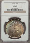 Morgan Dollars: , 1879 $1 MS63 NGC. NGC Census: (3793/4681). PCGS Population (4850/5237). Mintage: 14,807,100. Numismedia Wsl. Price for prob...