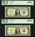 Fr. 1618 $1 1935H Silver Certificates. Two Consecutive Examples. PCGS Gem New 66PPQ
