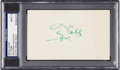 Baseball Collectibles:Others, 1950's Ty Cobb Signed Index Card, PSA/DNA Mint 9....