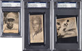 Baseball Collectibles:Photos, 1950's Jackie Robinson Signed Newspaper Photographs Lot of 3. ...