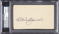 Baseball Collectibles:Others, 1951 Tris Speaker Signed Government Postcard, PSA Gem Mint 10. ...
