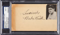Baseball Collectibles:Others, 1935 Babe Ruth Signed Government Postcard, PSA Mint 9. ...