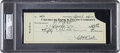 Baseball Collectibles:Others, 1937 Babe Ruth Double-Signed Check....
