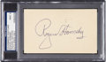 Baseball Collectibles:Others, 1956 Rogers Hornsby Signed Government Postcard, PSA Mint 9. ...