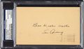 Baseball Collectibles:Others, 1937 Lou Gehrig Signed Government Postcard....