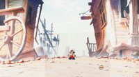 An American Tail: Fievel Goes West Production Cel and Master Painted Production Background Setup (Universal, 1991)
