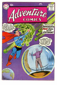 Adventure Comics #271 (DC, 1960) Condition: FN+. Origin of Luthor retold. Superboy vs. Kryptonite cover. Curt Swan cover...