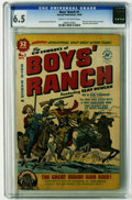 "Golden Age (1938-1955):Western, Boys' Ranch #1 (Harvey, 1950) CGC FN+ 6.5 Cream to off-white pages.""Meet the Authors"" text feature about Joe Simon and Jack..."