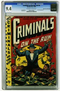 Criminals on the Run V4#6 Mile High pedigree (Curtis, 1949) CGC NM 9.4 Off-white to white pages. Dr. Doom appearance. L...