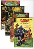 Bronze Age (1970-1979):Miscellaneous, Dagar the Invincible Group (Gold Key, 1974-76) Condition: AverageVF/NM. This full short box lot features Dagar #6 (24 c...