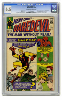 Daredevil #1 (Marvel, 1964) CGC FN+ 6.5 Cream to off-white pages. Origin and first appearance of Daredevil. First appear...