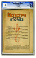 Platinum Age (1897-1937):Miscellaneous, Detective Picture Stories #1 (Comics Magazine, 1936) CGC PR 0.5Off-white pages. First comic book of a single theme. Bert Ch...