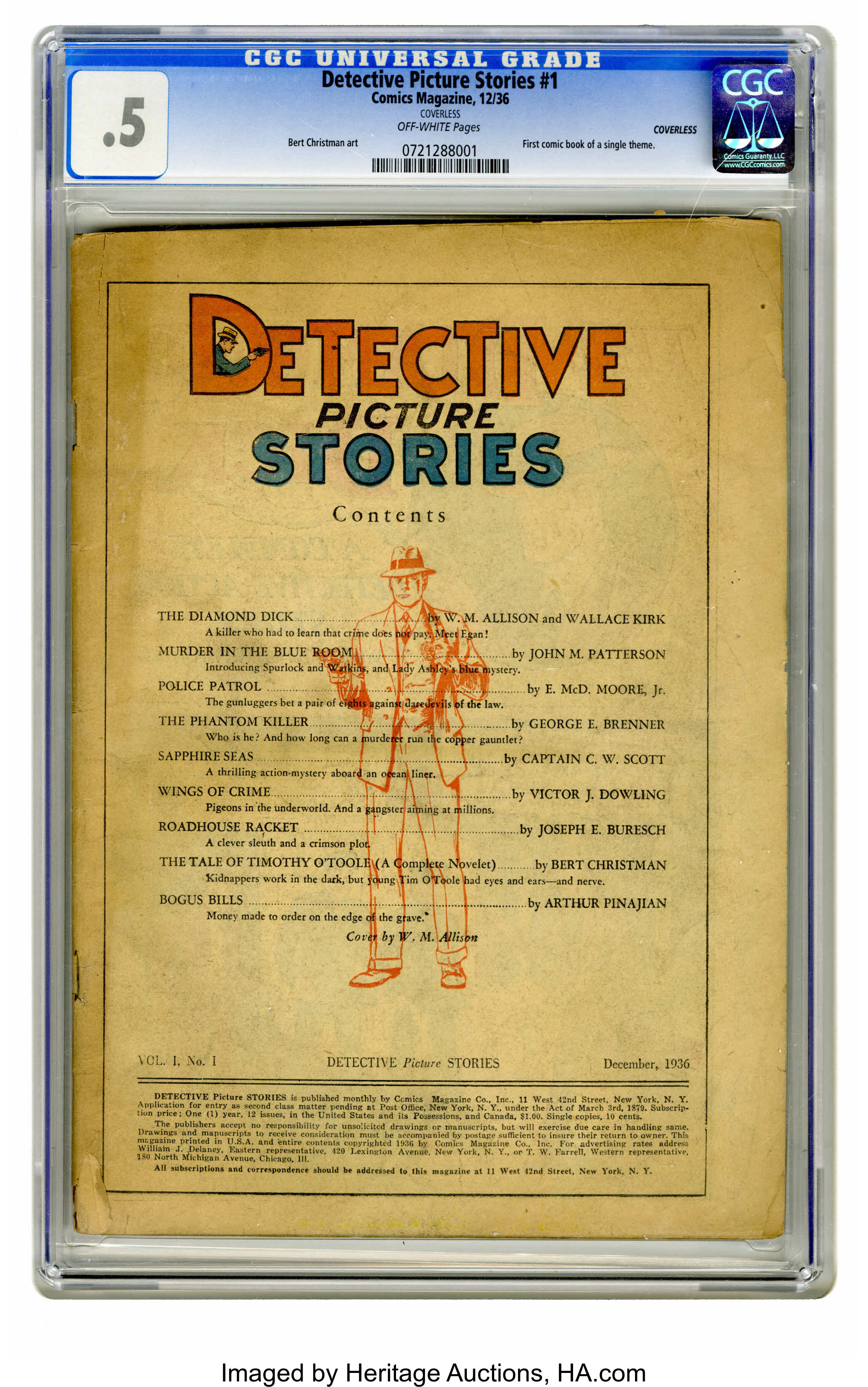 Detective Picture Stories #1 (Comics Magazine, 1936) CGC PR