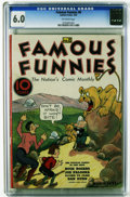 """Platinum Age (1897-1937):Miscellaneous, Famous Funnies #8 (Eastern Color, 1935) CGC FN 6.0 Off-white pages.This issue rates a Gerber """"7."""" Overstreet 2005 FN 6.0 va..."""