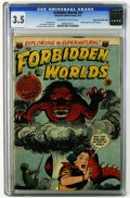 Golden Age (1938-1955):Horror, Forbidden Worlds #14 Mile High pedigree (ACG, 1952) CGC VG- 3.5Off-white to white pages. Atomic explosion cover and panel. ...