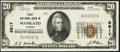 National Bank Notes:Kansas, Mankato, KS - $20 1929 Ty. 1 First NB Ch. # 6817. ...