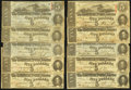 Confederate Notes:1863 Issues, T60 $5 1863, Ten Examples.. ... (Total: 10 notes)