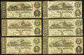 Confederate Notes:1863 Issues, T60 $5 1863, Six Examples.. ... (Total: 6 notes)