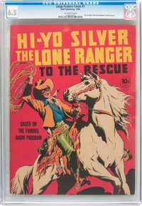 Large Feature Comic (Series I) #7 Hi-Yo Silver The Lone Ranger To the Rescue (Dell, 1939) CGC FN+ 6.5 Off-white pages...