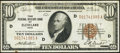 Small Size:Federal Reserve Bank Notes, Fr. 1860-D $10 1929 Federal Reserve Bank Note. Very Fine.. ...