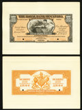 Canadian Currency: , Port of Spain, Trinidad- The Royal Bank of Canada $100/ £20-16-8January 2, 1920 Ch. # 630-66-06FP/BP Face and Back Proofs....(Total: 2 notes)