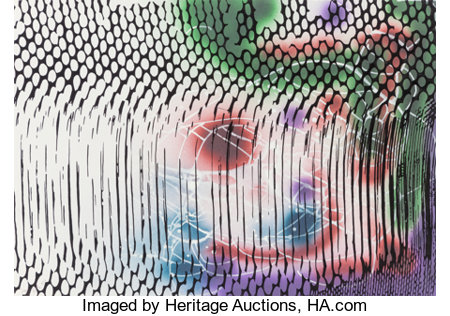 Sigmar Polke (1941-2010)Untitled, 1997Acrylic and mixed media on paper27-1/2 x 39-1/2 inches (69.9 x 100.3 cm) (sh...
