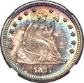 Seated Quarters, 1877-S 25C S Over Horizontal S, Briggs 4-D, FS-501, MS67 ★ NGC....