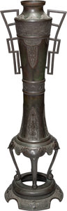 Asian:Japanese, A Tall Japanese Bronze Vase, late Meiji Period. 36 inches high(91.4 cm). ...