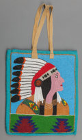 American Indian Art:Beadwork and Quillwork, A Plateau Pictorial Beaded Hide Flat Bag. c. 1900...