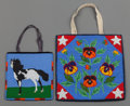 American Indian Art:Beadwork and Quillwork, Two Plateau Pictorial Beaded Hide Flat Bags. c. 1910... (Total: 2Items)