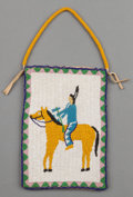 American Indian Art:Beadwork and Quillwork, A Plateau Beaded Hide Flat Bag. c. 1910...