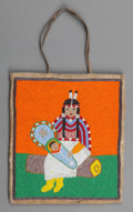 American Indian Art:Beadwork and Quillwork, A Plateau Pictorial Beaded Hide Flat Bag. c. 1900. ...