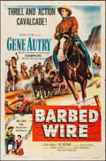 "Movie Posters:Western, Barbed Wire & Other Lot (Columbia, 1952). One Sheets (2) (27"" X 41""). Western.. ... (Total: 2 Items)"