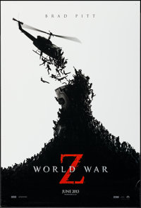 "World War Z (Paramount, 2013). One Sheet (27"" X 40"") DS Advance & Cinemark Exclusive Poster (11"" X 17..."