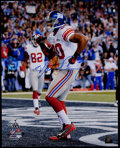 Football Collectibles:Photos, Victor Cruz Signed Oversized Photograph. ...