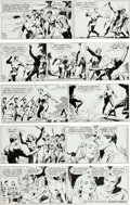 Original Comic Art:Comic Strip Art, Dan Barry and Bob Fujitani Flash Gordon Daily Comic Strip Original Art dated 5-14-85 through 5-18-85 Group of (Ki... (Total: 5 Original Art)