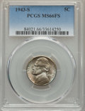 Jefferson Nickels, 1943-S 5C MS66 Full Steps PCGS. PCGS Population: (892/150). NGC Census: (312/77). CDN: $75 Whsle. Bid for problem-free NGC/...