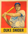 """Baseball Collectibles:Others, 2015 Duke Snider """"Card that Never Was"""" Original Artwork by Arthur Miller...."""