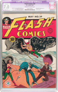 Flash Comics #29 (DC, 1942) CGC Apparent FN/VF 7.0 Slight (B-1) Off-white to white pages